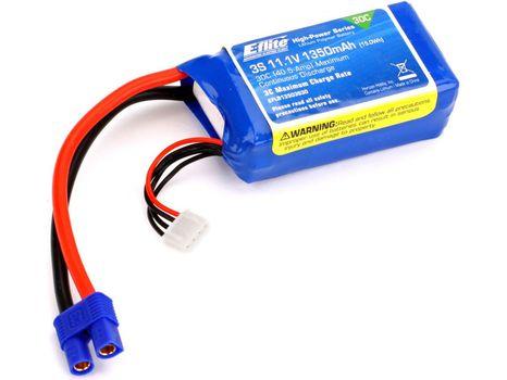E-flite LiPol 11.1V 1350mAh 30C EC3