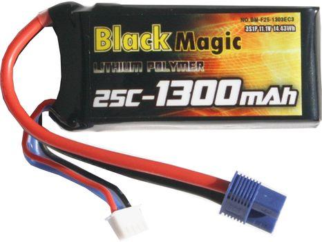 Akumulátor LiPoly Black Magic 11.1V 1300mAh 25C