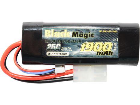 Black Magic LiPol Car 7.4V 1900mAh 25C Tamiya